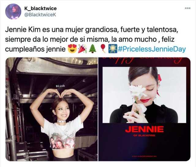 Fandom celebra cumpleaños de Jennie de BLACKPINK