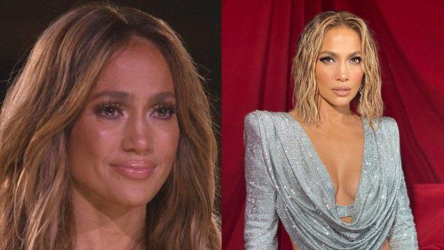 Jennifer Lopez look plateado