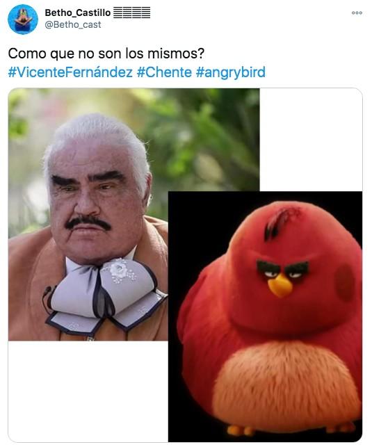 Vicente fernández como angry bird