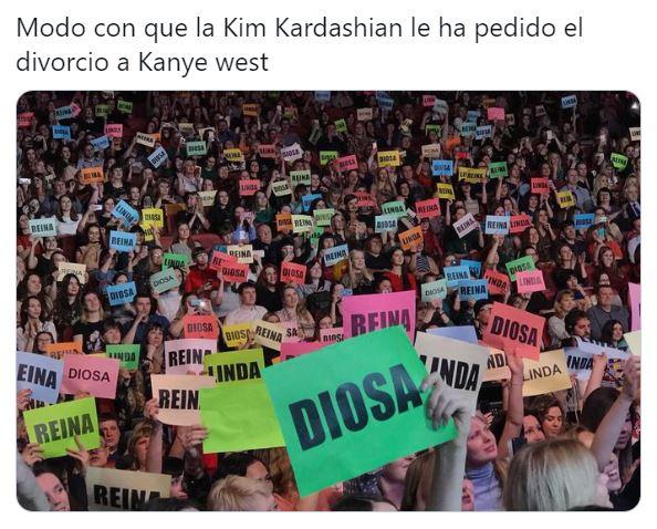 Memes del divorcio de Kim Kardashian y Kanye West