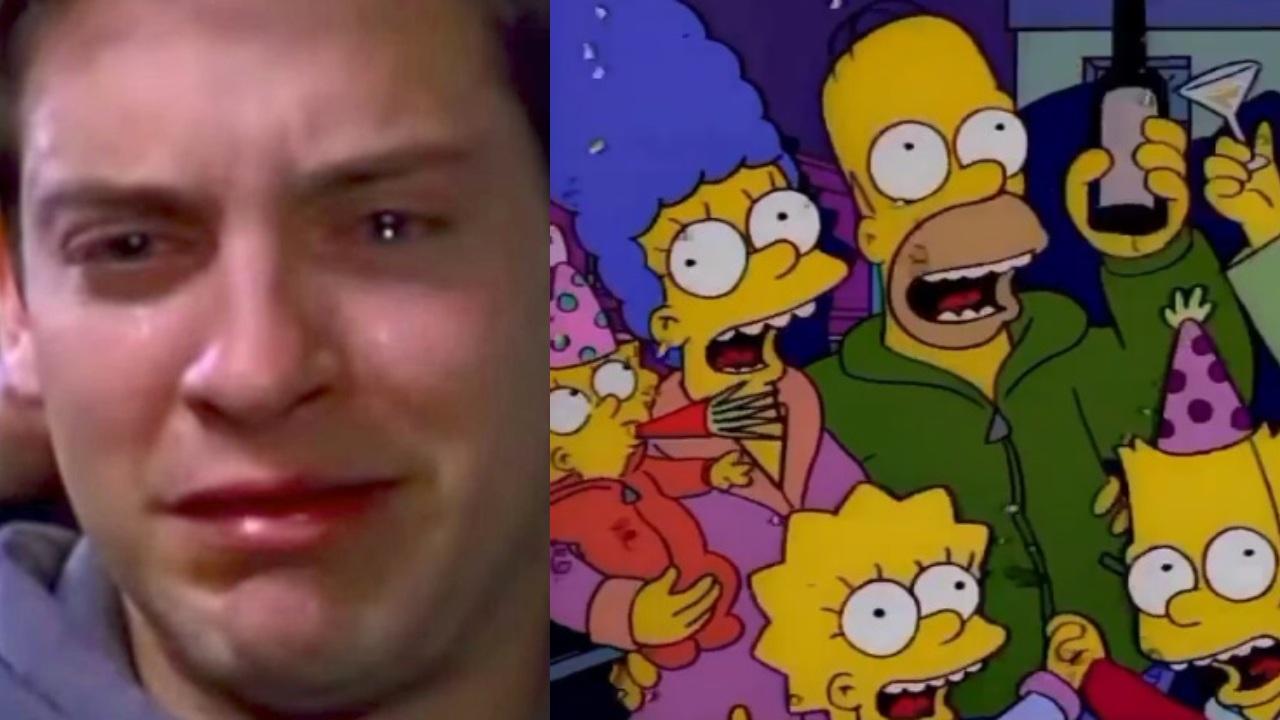 Simpsons meme Spiderman