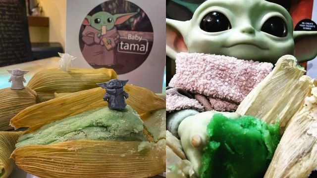 Tamales Baby Yoda