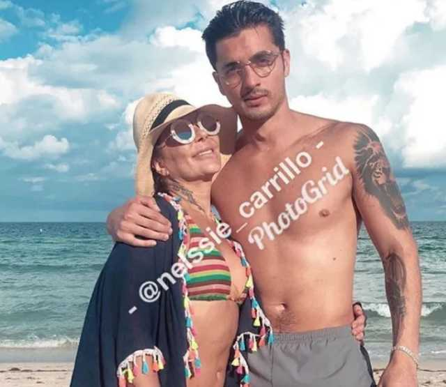 Alejandra Guzmán con Christian Estrada