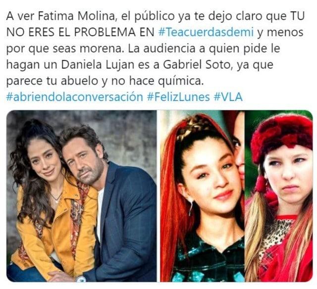 Gabriel Soto es duramente criticado tras discriminación a Fátima Molina