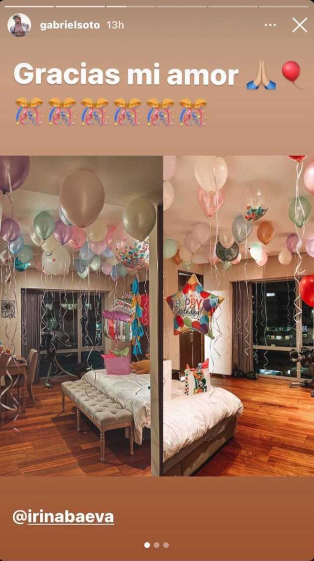 Gabriel Soto agradece a Irina Baeva por festejo de cumpleaños