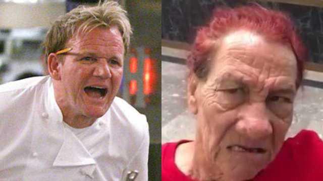 Gordon Ramsay y la Gilbertona se encuentran en restaurante