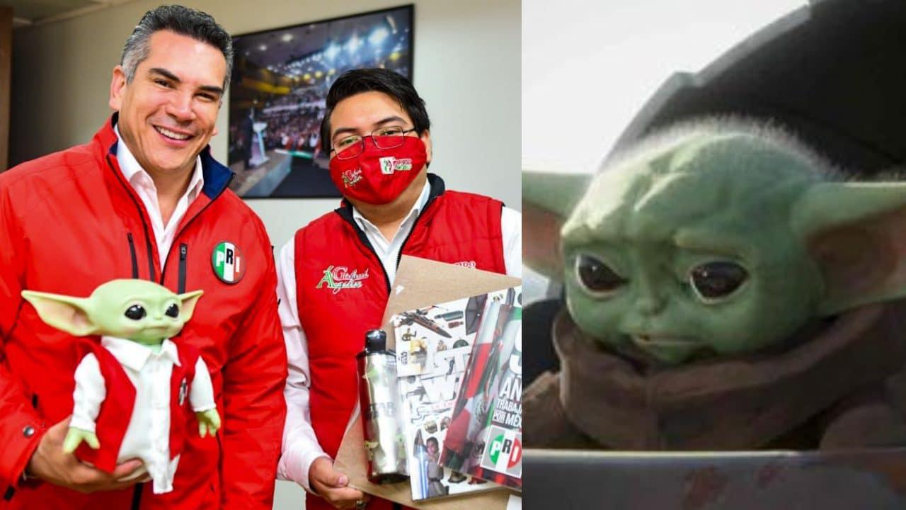 Presidente del PRI usa a Baby Yoda para promocionar su partido y es criticado