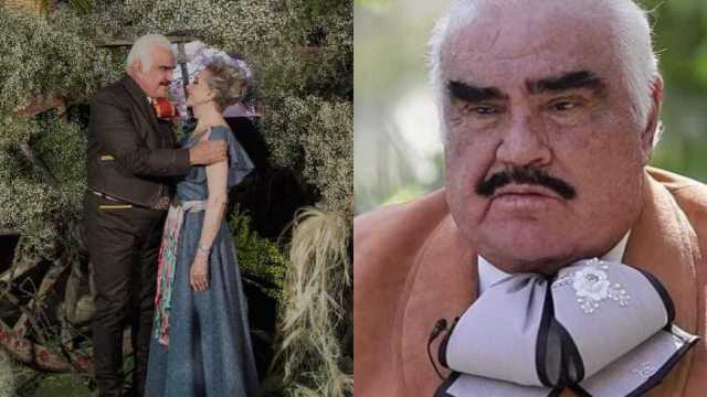 Vicente Fernández reaparece junto a su esposa tras polémica y lo critican
