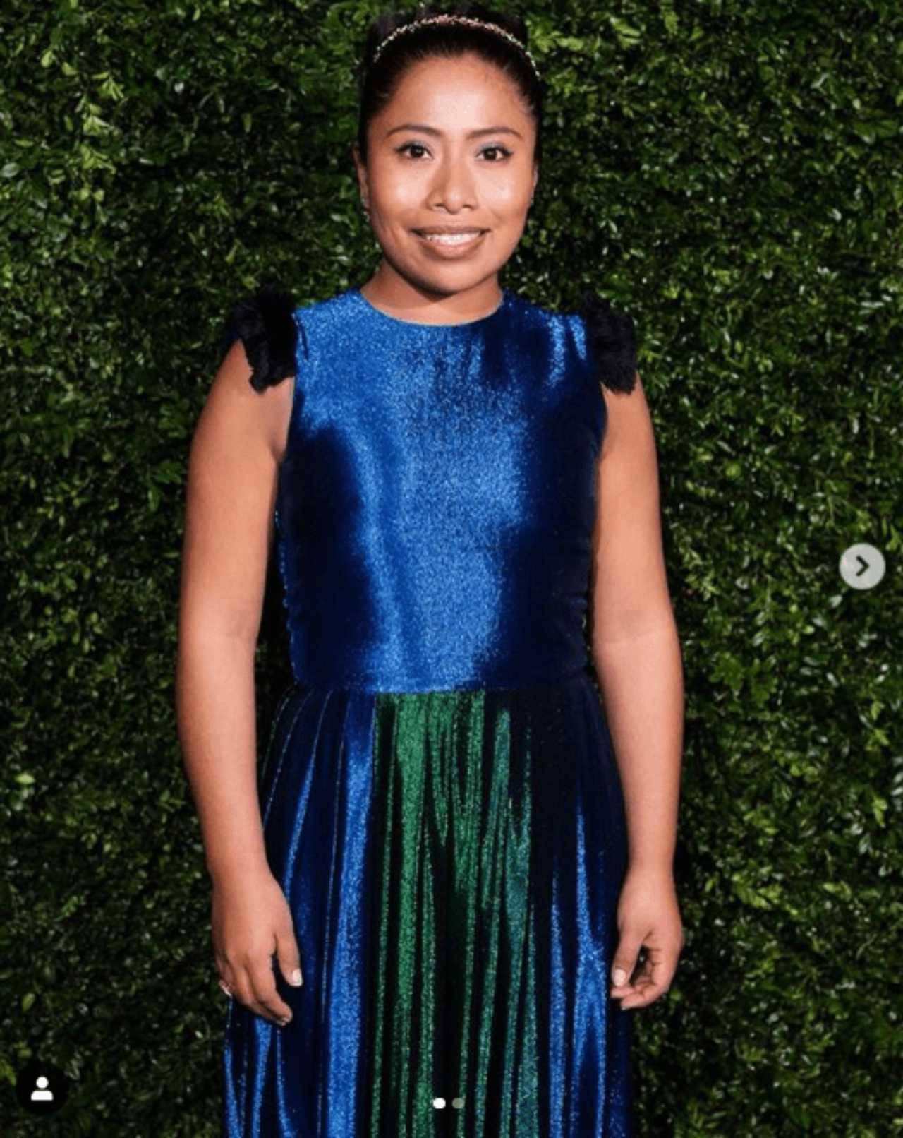 Yalitza Aparicio con vestido de Sergio Goyri en los premios BAFTA de 2019