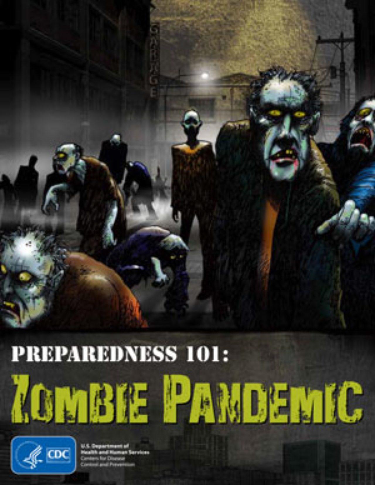 Publicidad de CDC para sobrevivir a un apocalipsis zombie