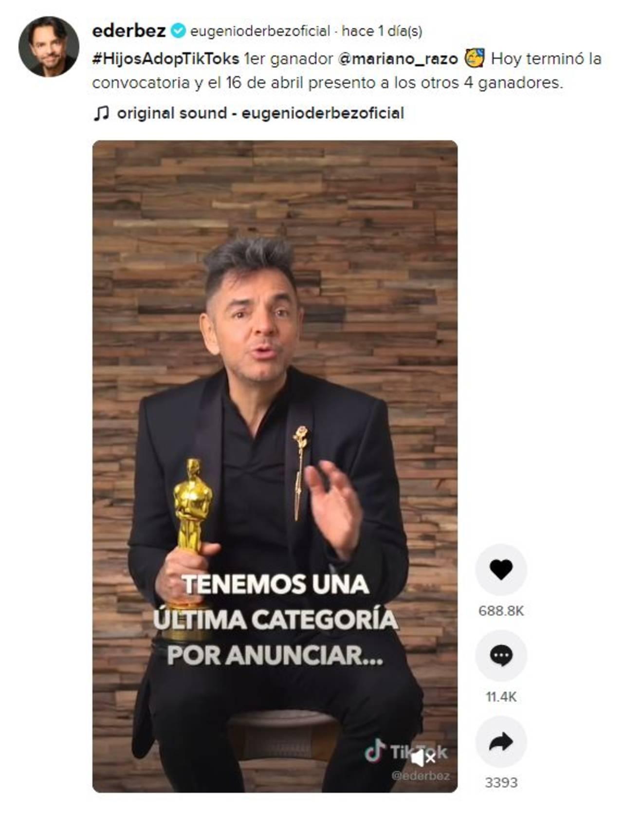 TikTok Eugenio Derbez hijo Mariano Razo Exatlón