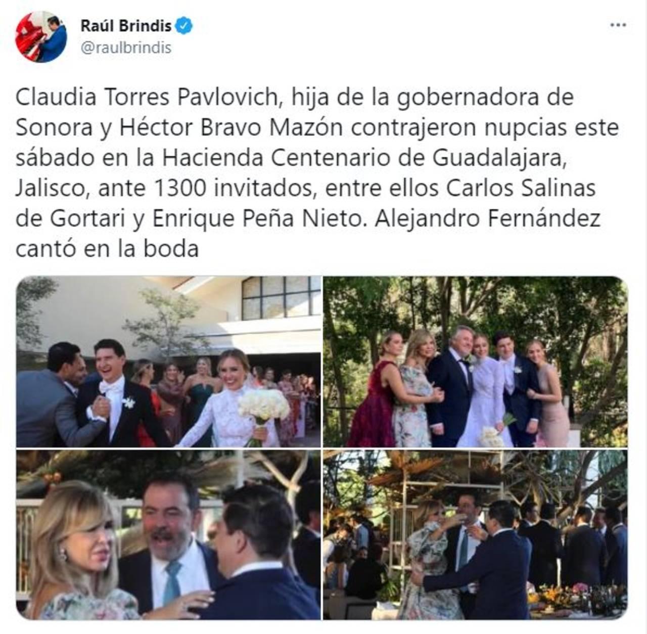 Hija Gobernadora Sonora boda con mil invitados