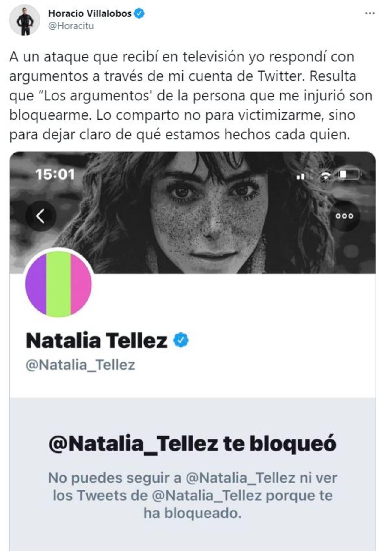 Horacio Villalobos contra Natalia Téllez tras llamarlo transfóbico