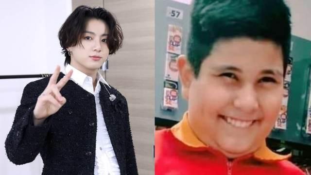 Jungkook y meme niño del oxxo