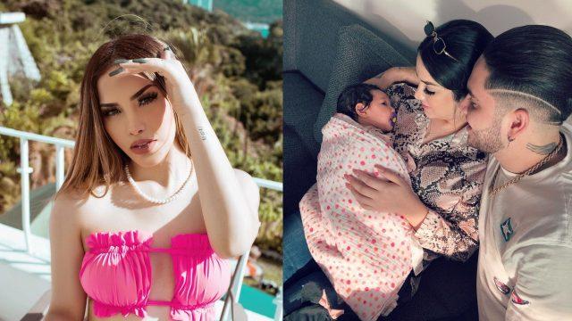 Kimberly Loaiza con sus bebés