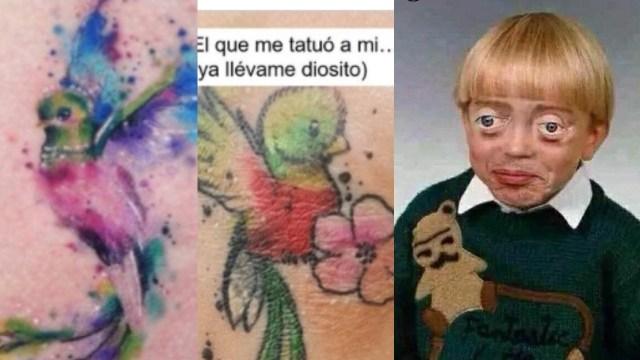 tatuaje quetzal canario meme