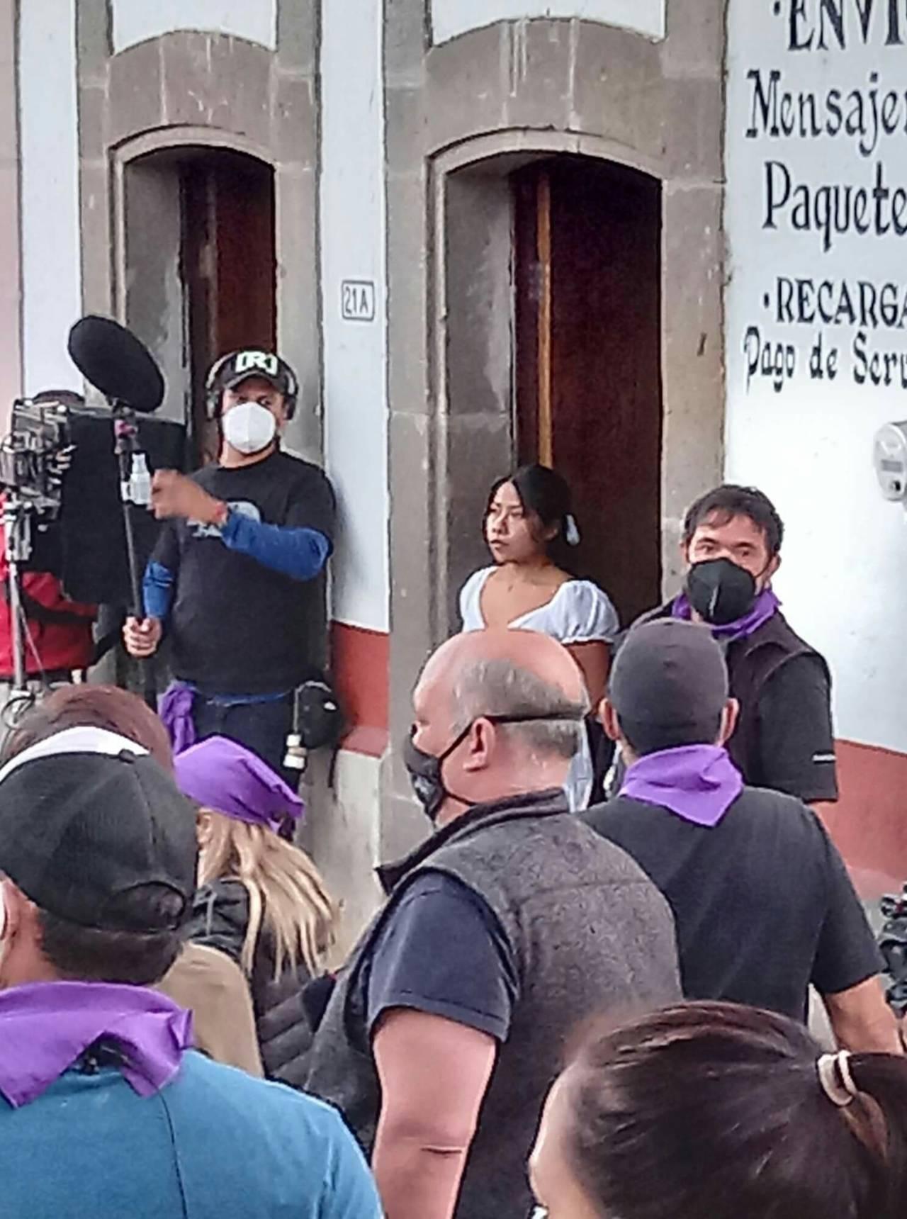 Yalitza Aparicio grabaciones película suspenso presencias