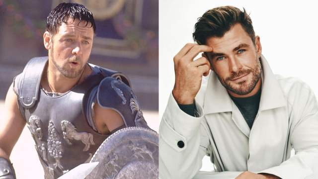 Chris Hemsworth nuevo Gladiador hijo Russell
