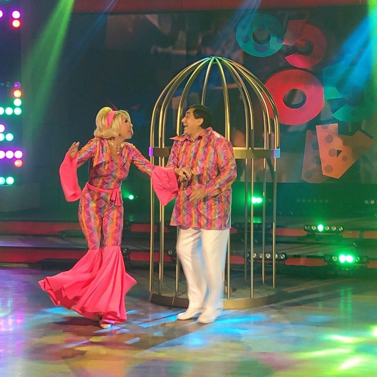 laura Bozzo y Carlos Bonavides bailando