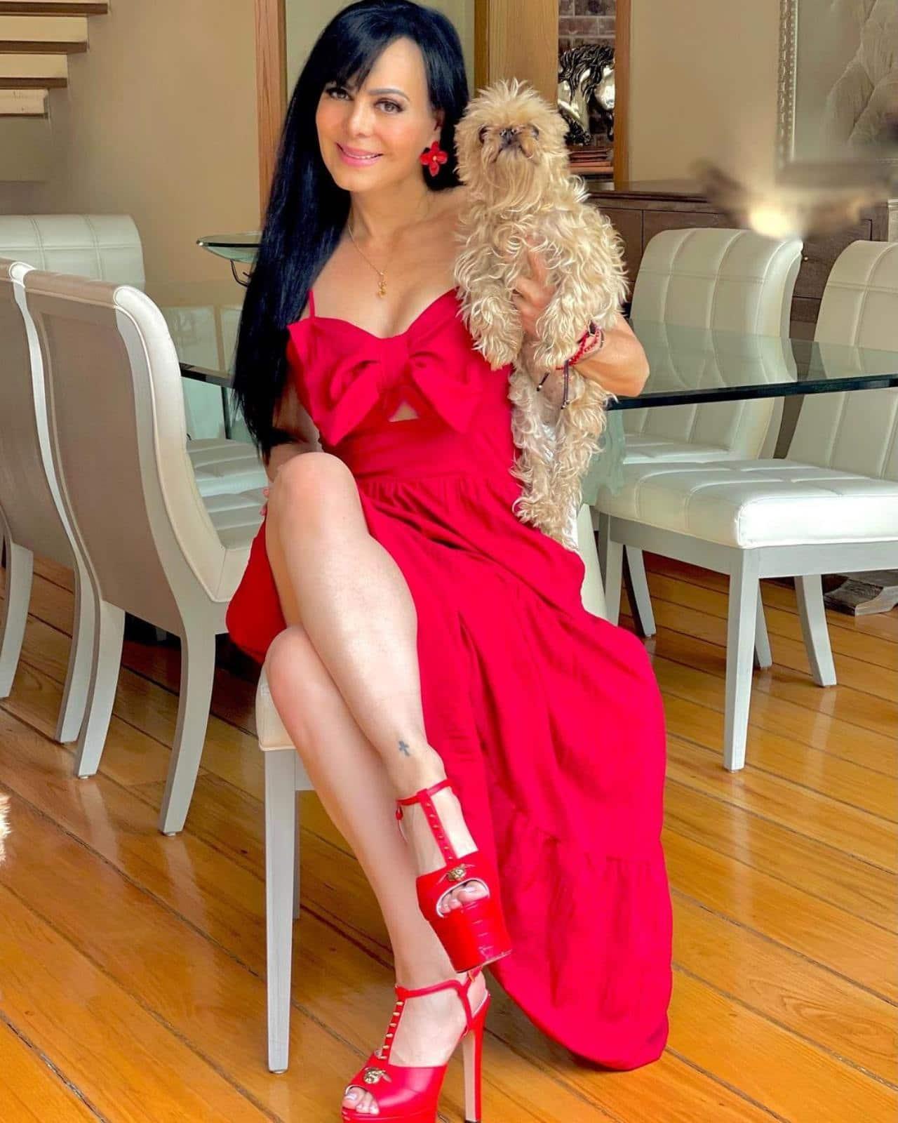 Maribel Guardia y su perro limpio