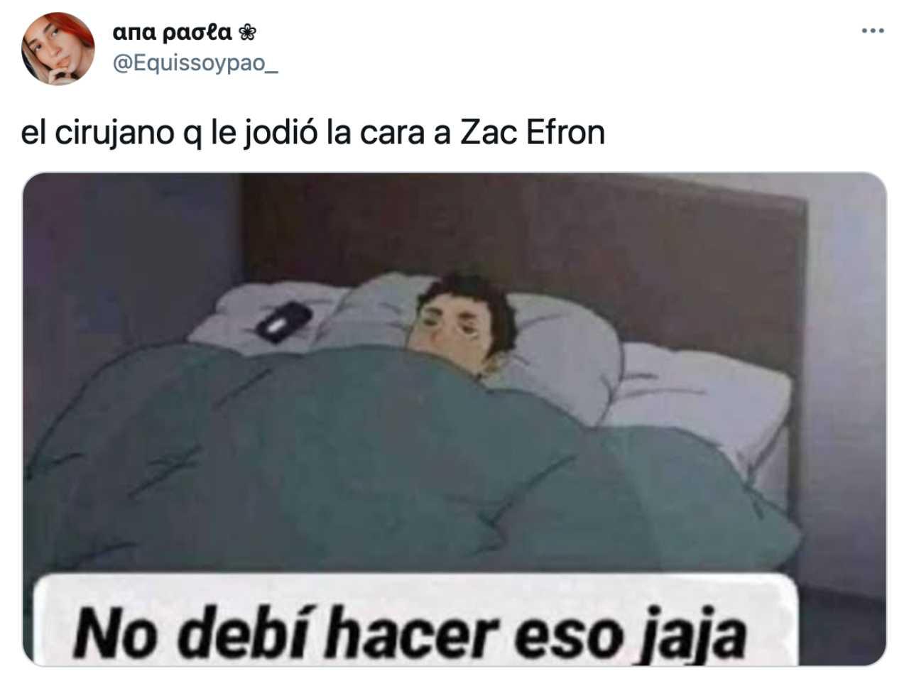 Meme de Zac Efron de No debí hacer eso