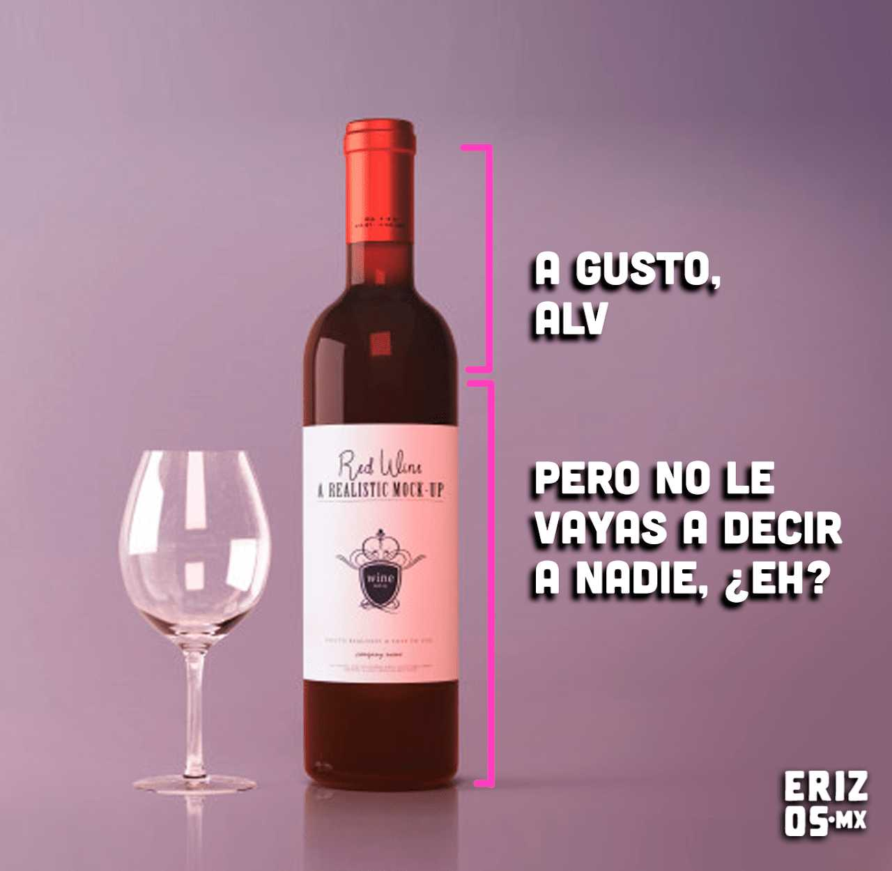 Memes de corchetes con la botella de vino