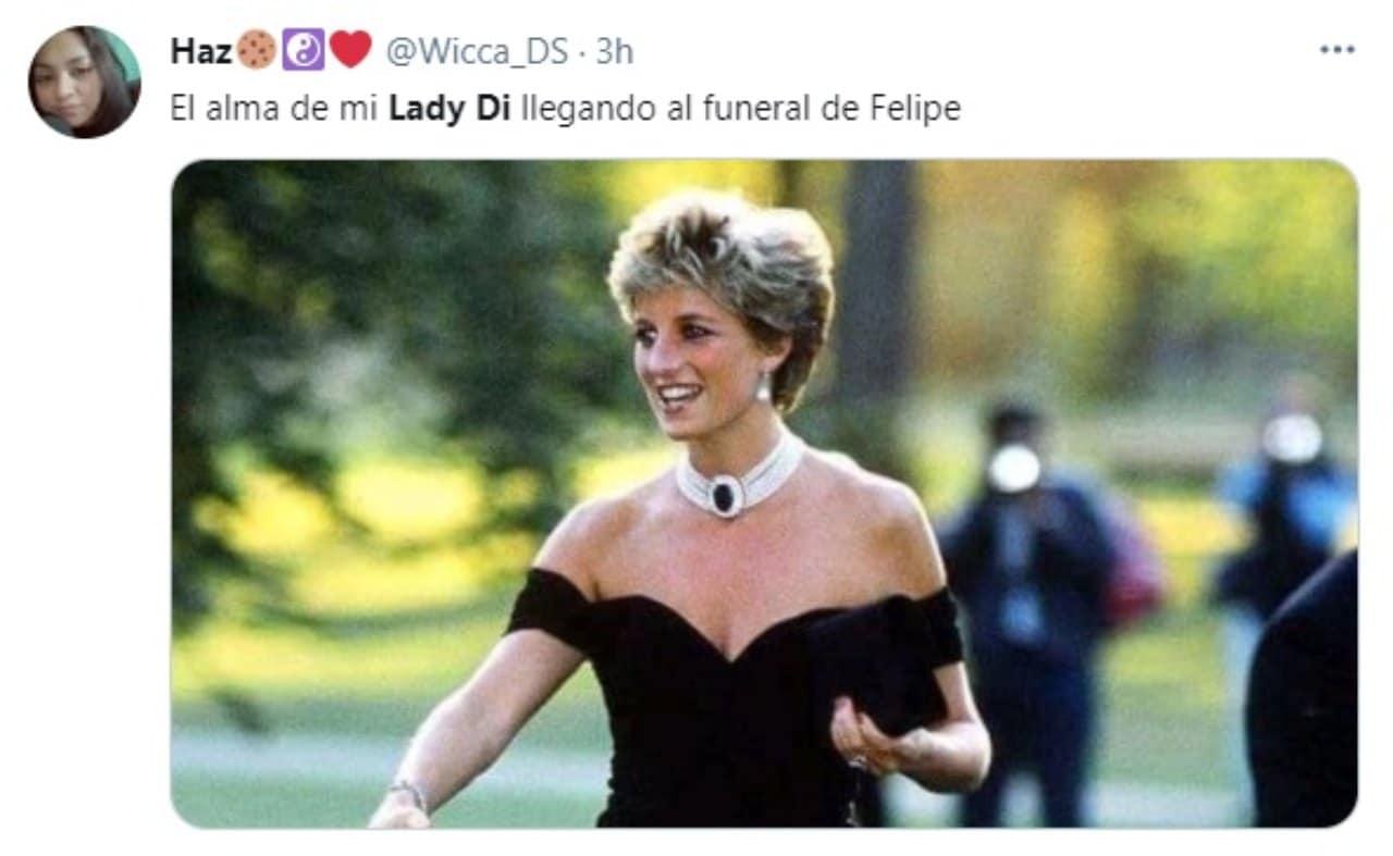 meme lady di funeral principe felipe