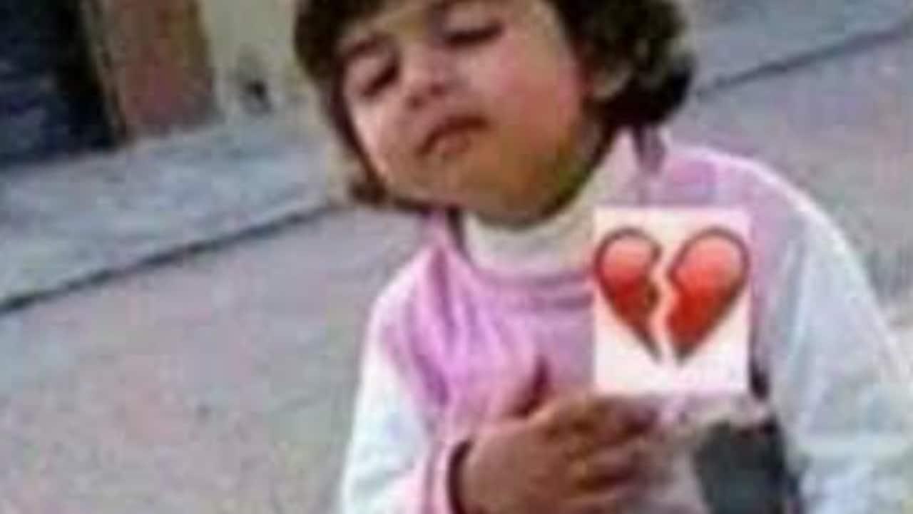 Meme niña de corazón roto