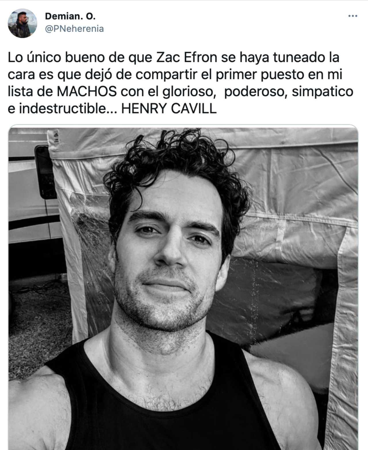 Zac Efron comparado con Henry Cavill en meme