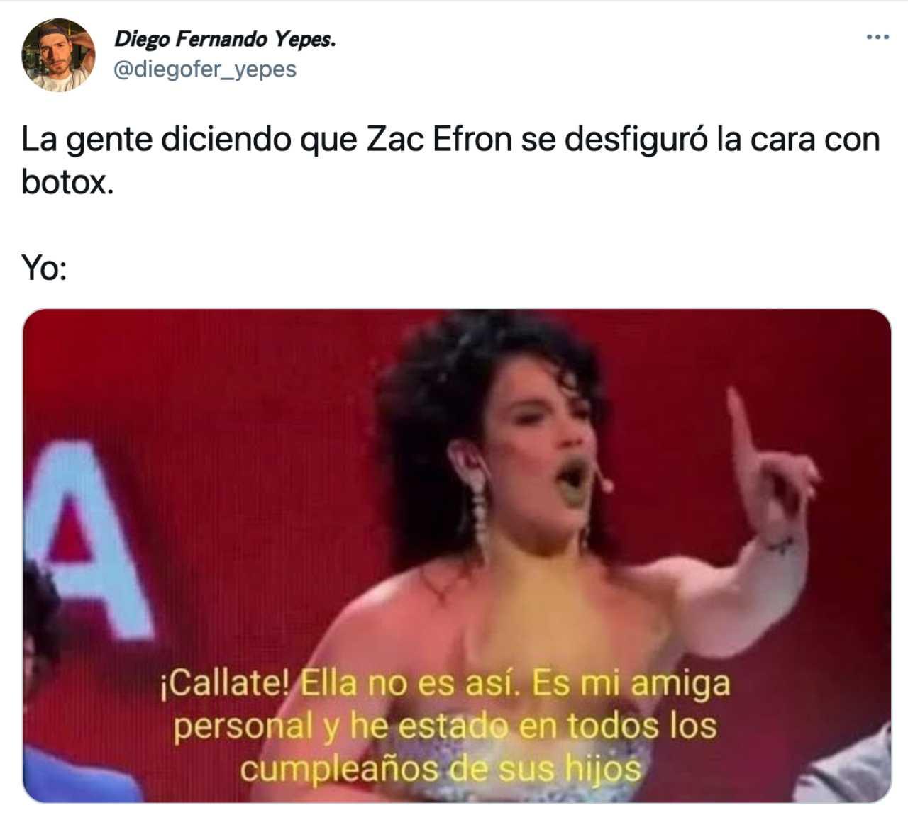 Meme de Zac Efron con Niurka