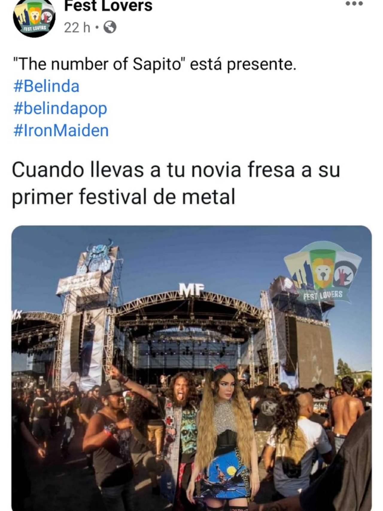 La novia fresa fan del metal