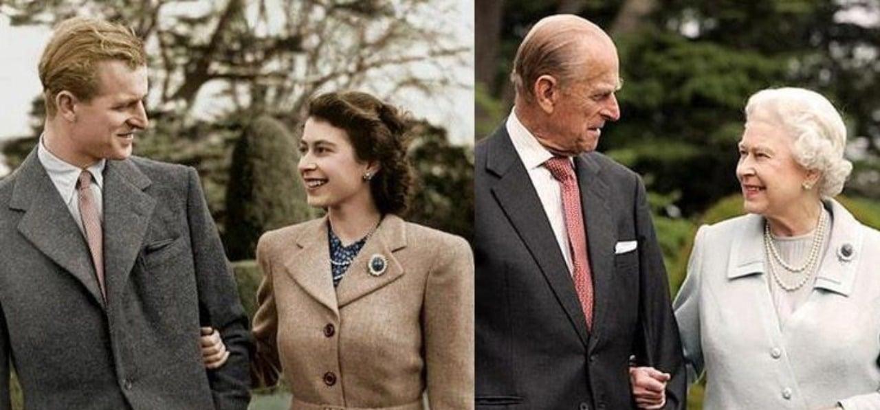 Principe Felipe reina isabel antes despues