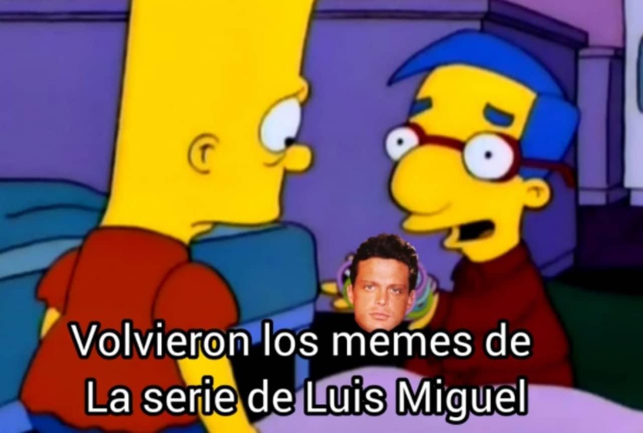 Bart meme Luis Miguel La Serie