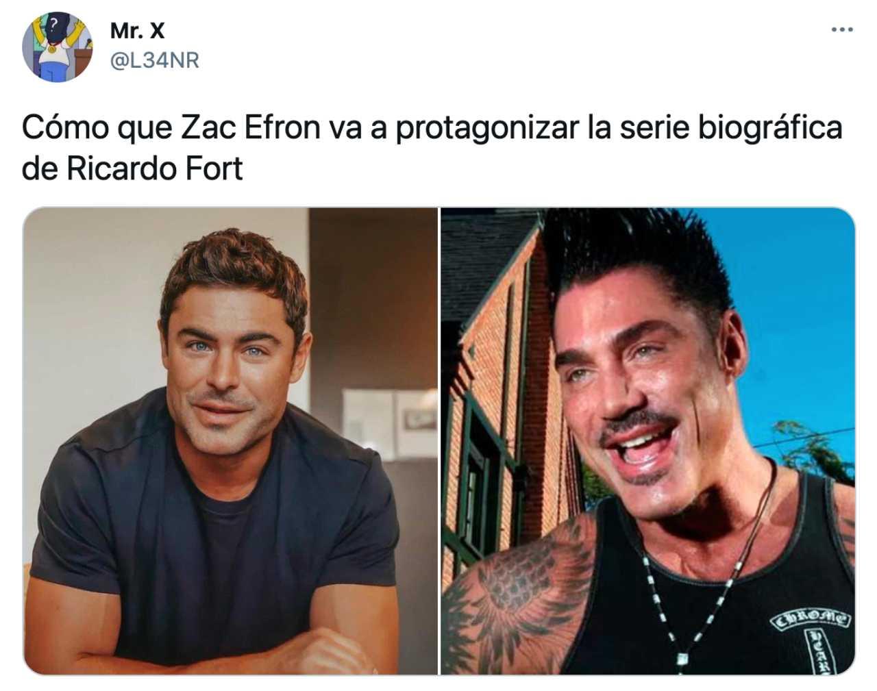 Meme de Zac Efron y Ricardo Fort