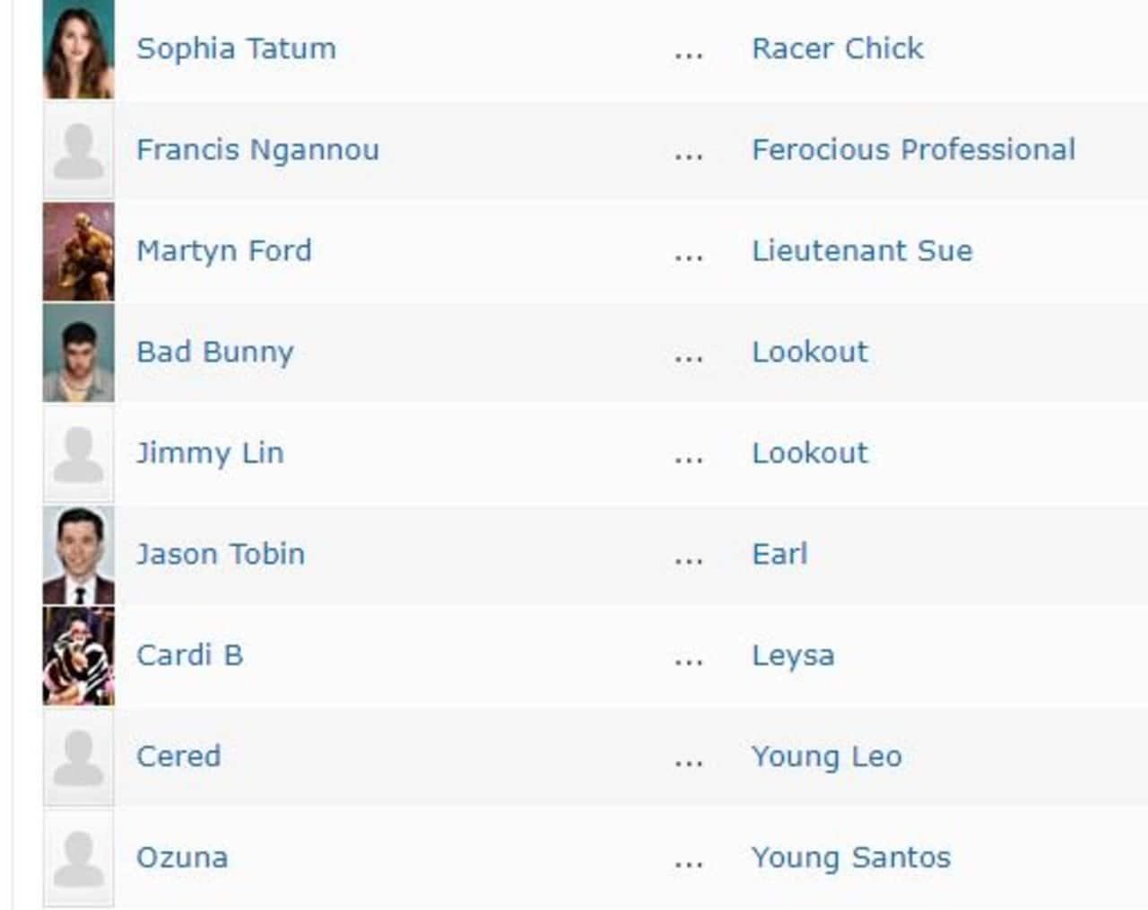Rápidos y furiosos 9 Bad Bunny elenco