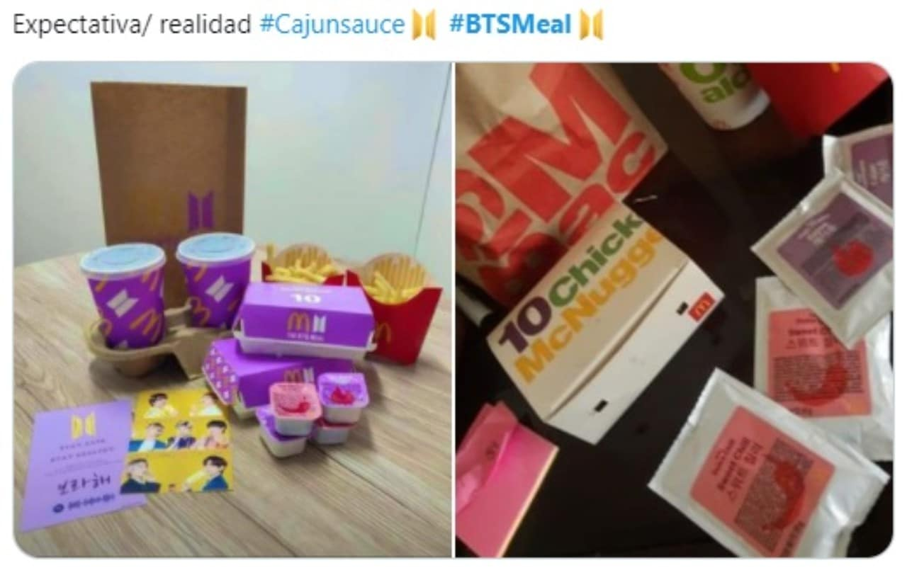 Bts meal Mc Donalds Colombia