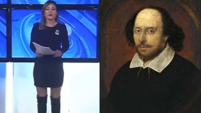 Periodista se equivoca y anuncia fallecimiento de William Shakespeare