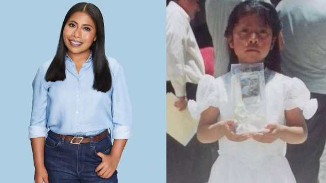Yalitza Aparicio conquista con su foto de niña y sigue siendo una belleza