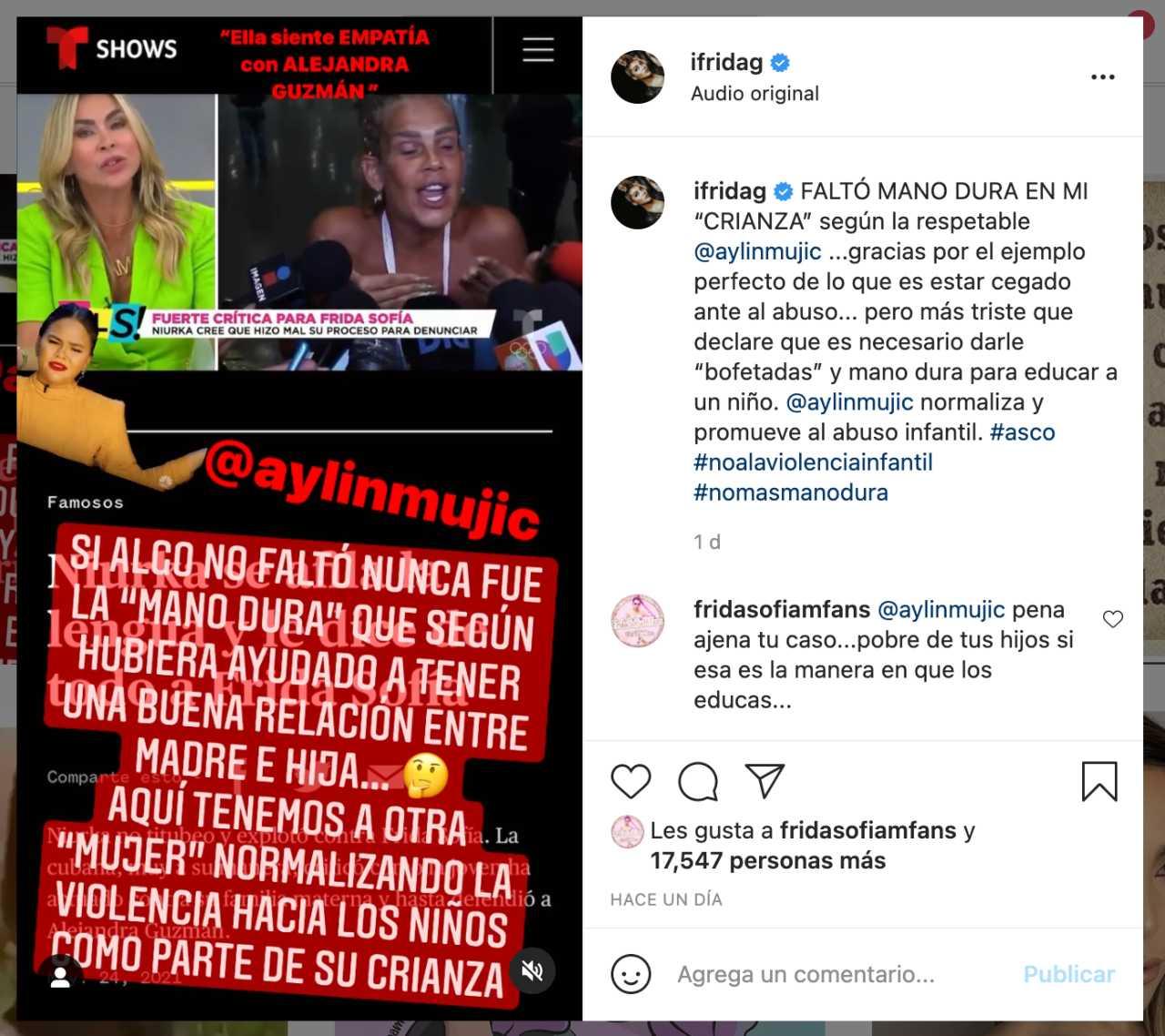 Frida sofía arremete contra aylin mujica
