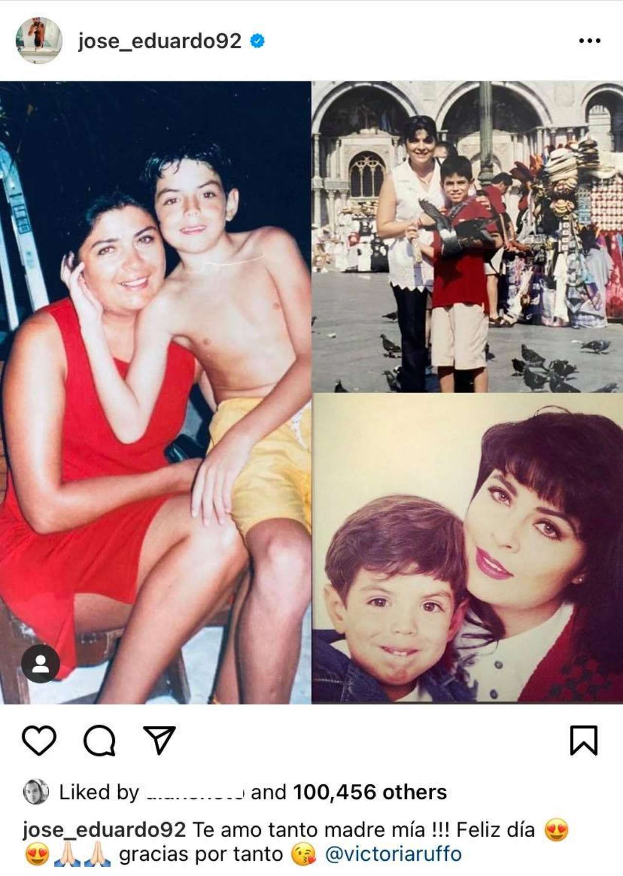 Jose Eduardo Derbez y su mama Victoria