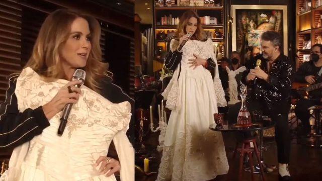 Lucero sorprende a Mijares al enseñarle su vestido de novia