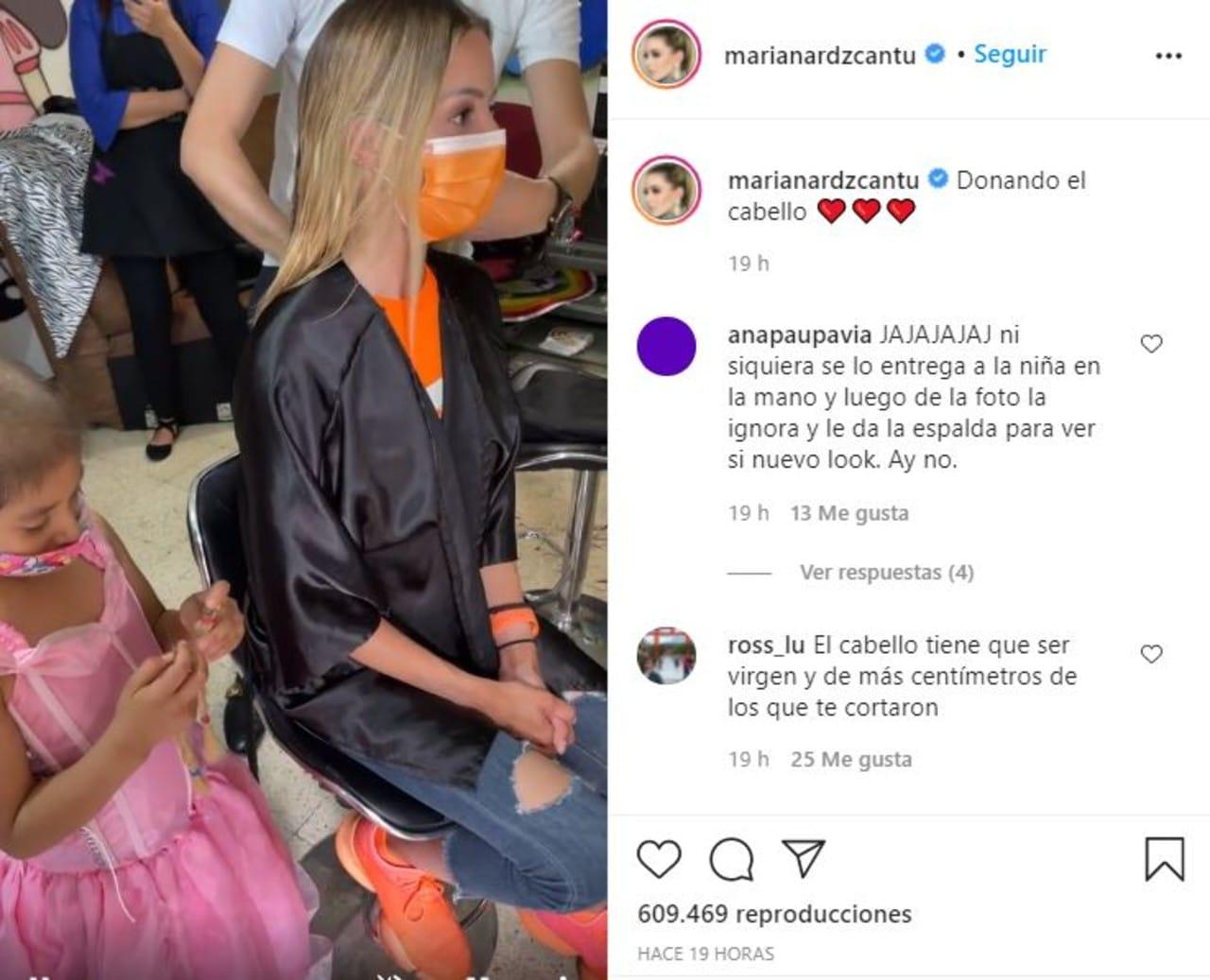 Mariana Rodríguez recibe críticas tras donar cabello