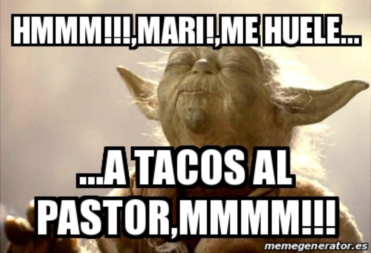 Meme Yoda tacos al pastor