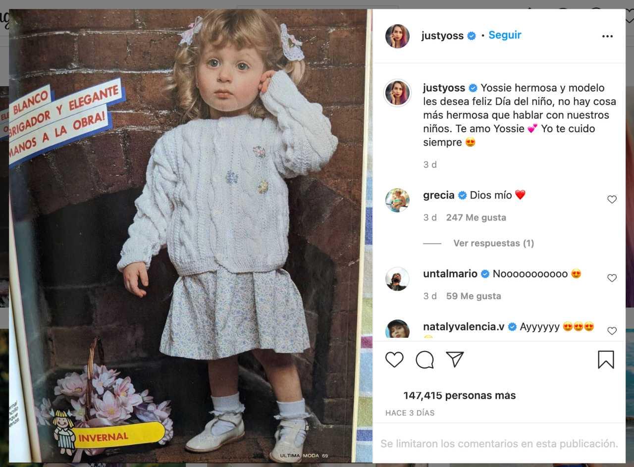 YosStop presumió su foto de niña