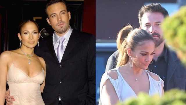 Jennifer Lopez y Ben Affleck primer beso oficial