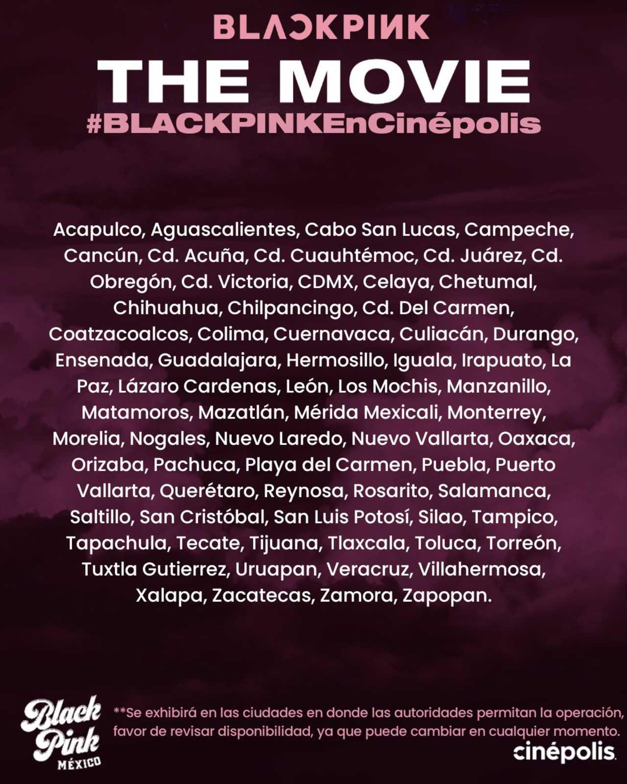 BLACKPINK The Movie pone a la venta la preventa de los boletos en el cine