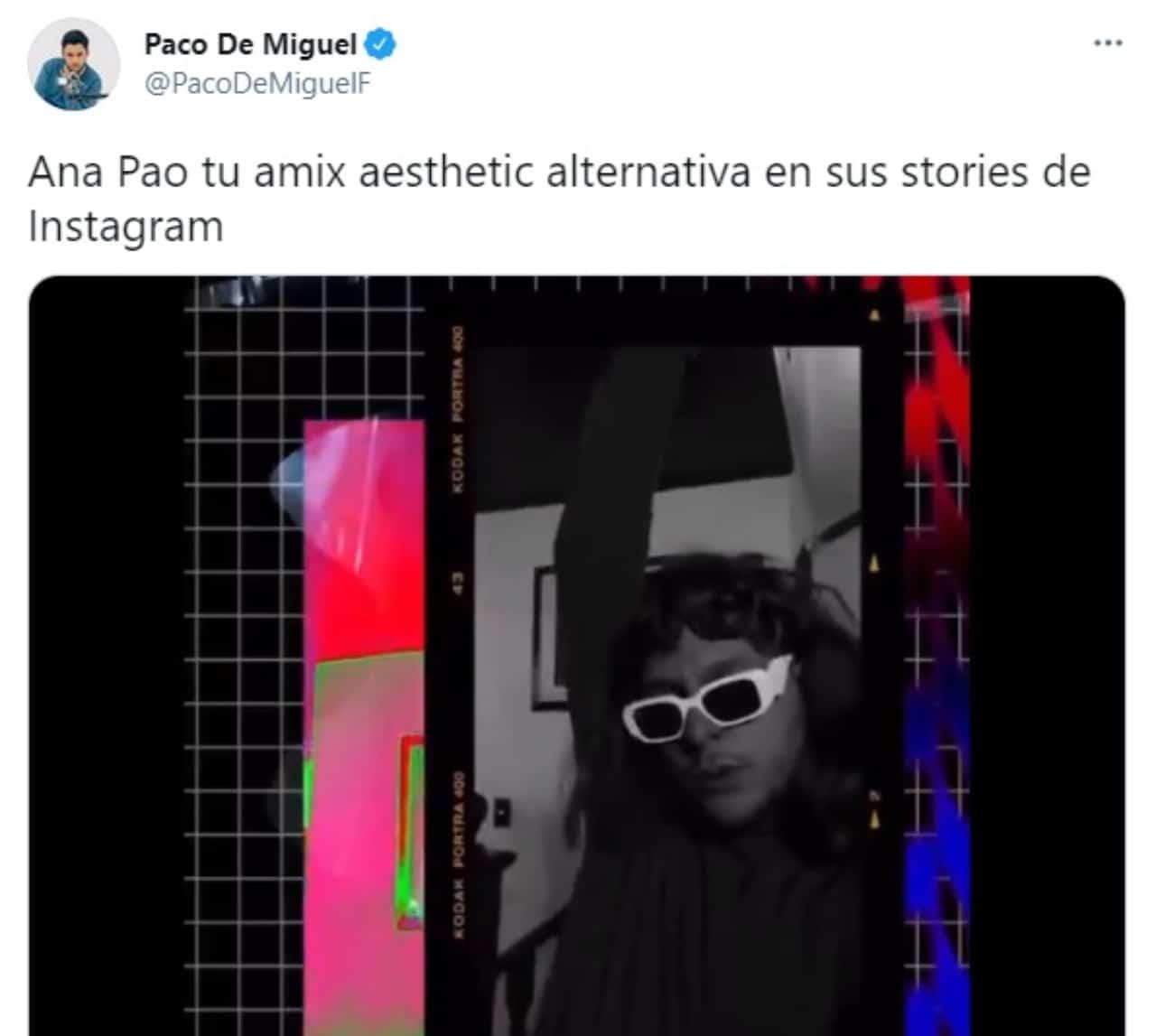 Paco de Miguel imitando a Ana Pao