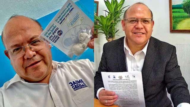 Candidato del PAN regala fetos de yeso en su campaña electoral