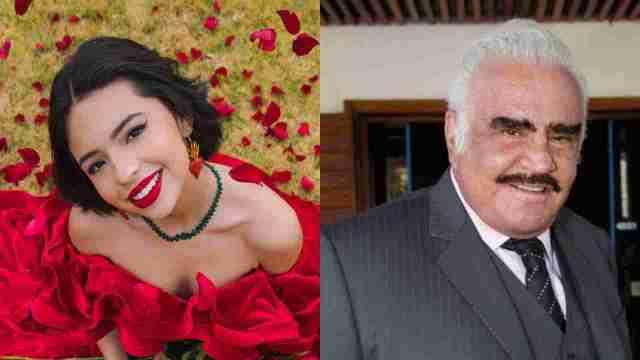 Ángela Aguilar es hija de Vicente Fernández