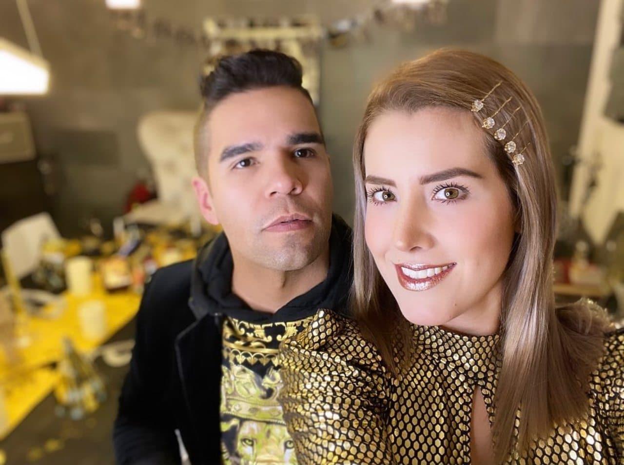 Emir Pabon y su esposa Stefania de Aranda